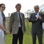German ambassador, Mr. Frank Meyke (right) and guests smile for the camera