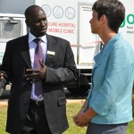 CURE Zambia Executive Director, Peter Kyalo and British High Commissioner, Ms. Carolyn Davidson