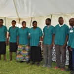 Parents of CURE Zambia's patients sing for guests