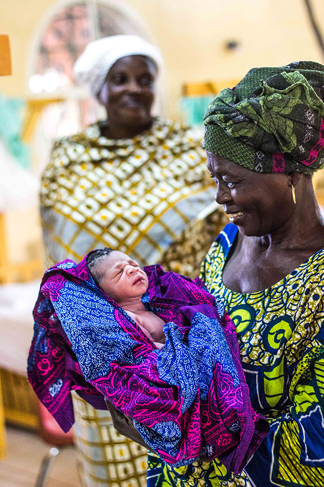 First baby born through a C-section at CURE Niger